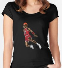 Michael Jordan Women's Fitted Scoop T-Shirt