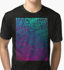 Colorful Corroded Background Tri-blend T-Shirt