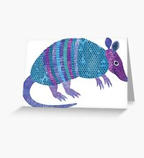 A is for Armadillo Greeting Card