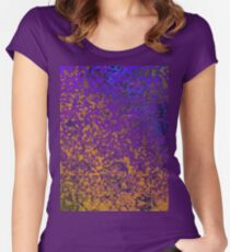 Colorful Corroded Background Women's Fitted Scoop T-Shirt