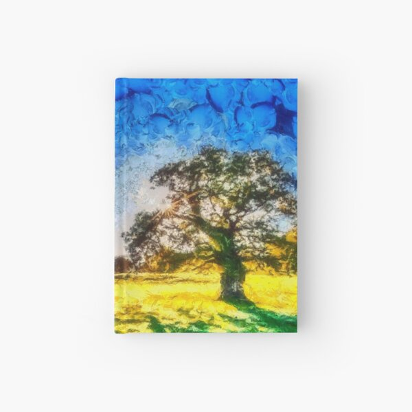 landscape trees Hardcover Journal