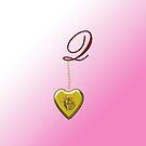 Q Golden Heart Locket by Chere Lei
