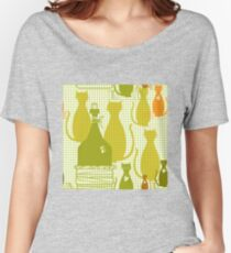 Cartoon cat background Women's Relaxed Fit T-Shirt