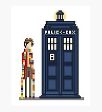 Pixel fourth Doctor Photographic Print