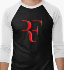 rf, roger federer, roger, federer, tennis, wimbledon, grass, tournament, ball, legend, sport, australia, nadal, net, cool, logo, perfect. Men's Baseball ¾ T-Shirt