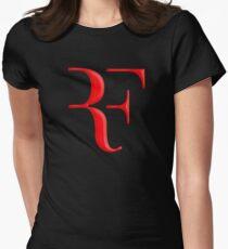 rf, roger federer, roger, federer, tennis, wimbledon, grass, tournament, ball, legend, sport, australia, nadal, net, cool, logo, perfect. Women's Fitted T-Shirt