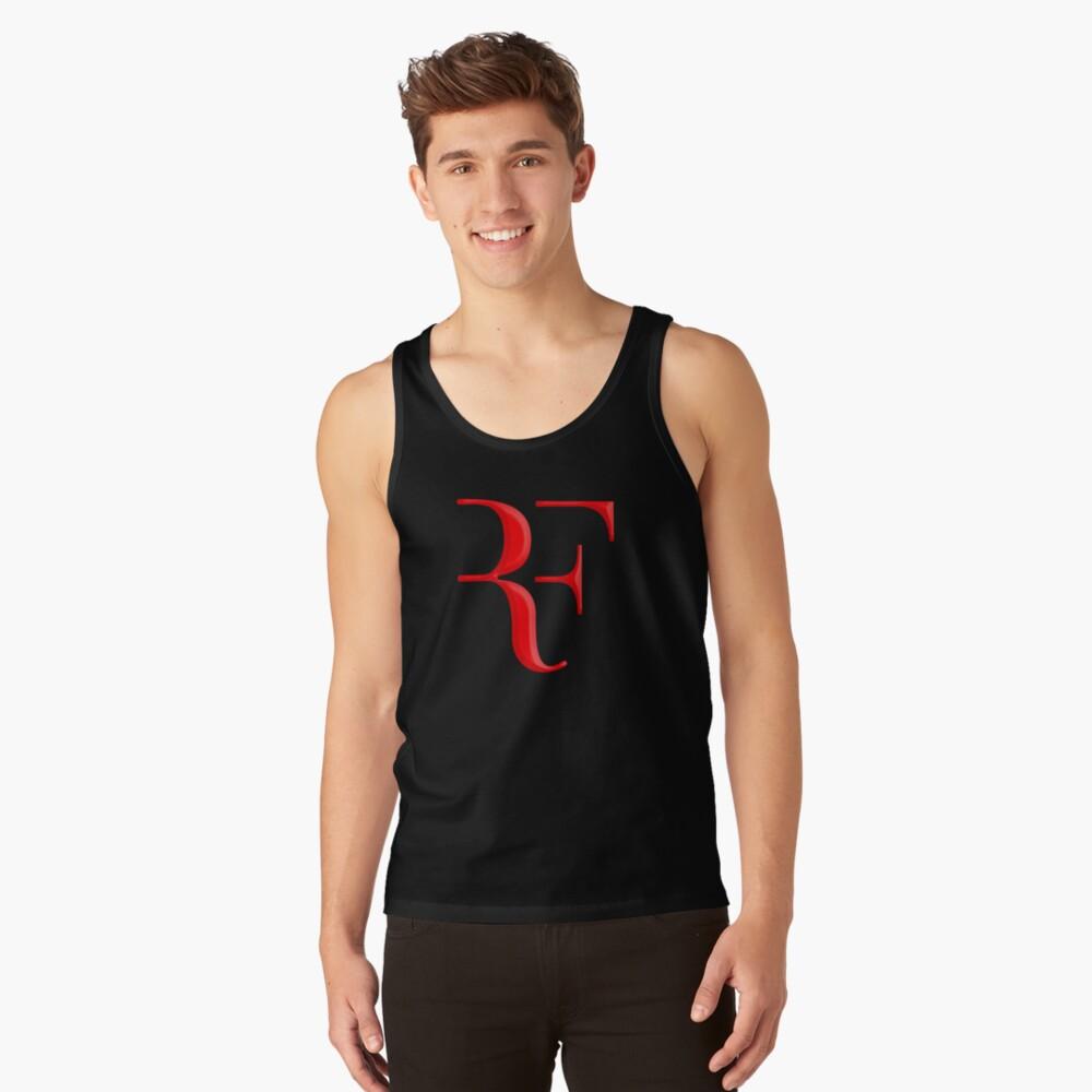 rf, roger federer, roger, federer, tenis, wimbledon, hierba, torneo, pelota, leyenda, deporte, australia, nadal, red, cool, logo, perfecto. Camiseta de tirantes