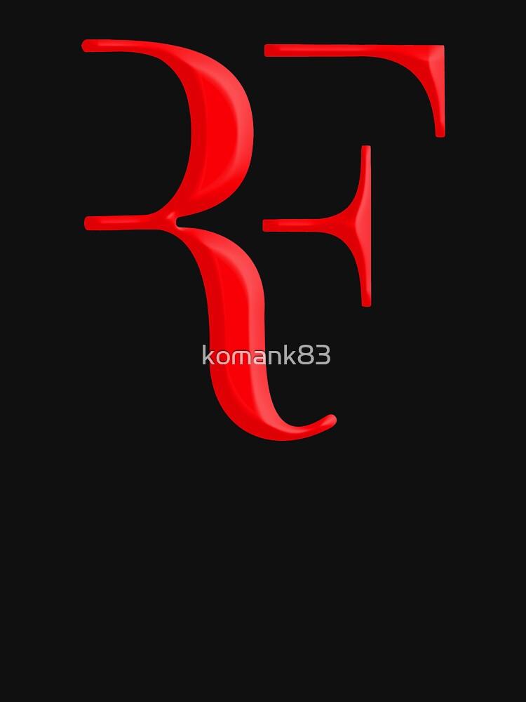 rf, roger federer, roger, federer, tenis, wimbledon, hierba, torneo, pelota, leyenda, deporte, australia, nadal, red, cool, logo, perfecto. de komank83