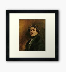 EUGENE DELACROIX, (), SELF PORTRAIT Framed Print