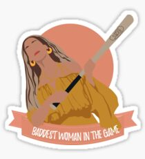 baddest woman in the game Sticker