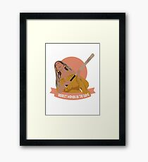 baddest woman in the game Framed Print
