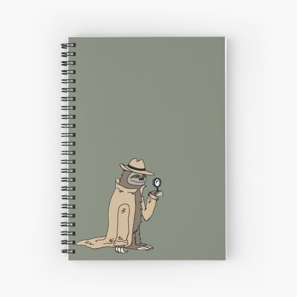 Sleuth Sloth Spiral Notebook
