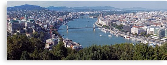 Gellért Hill Viewpoint of Budapest, Hungary by Lucinda Walter