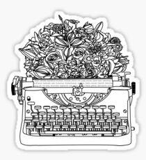 Typewriter Bouquet  Sticker