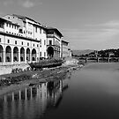 Buildings Along the Arno by Lucinda Walter