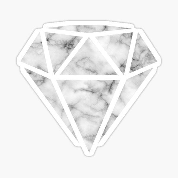 White Marble Diamond  Sticker
