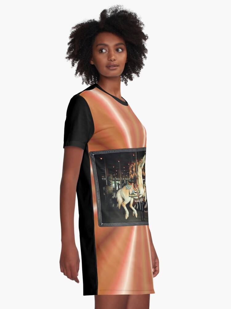 Alternate view of Beautiful Horse on the Carousel Graphic T-Shirt Dress