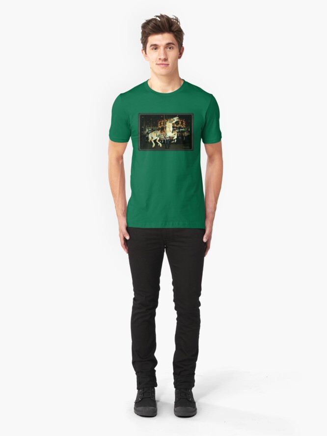 Alternate view of Beautiful Horse on the Carousel Slim Fit T-Shirt