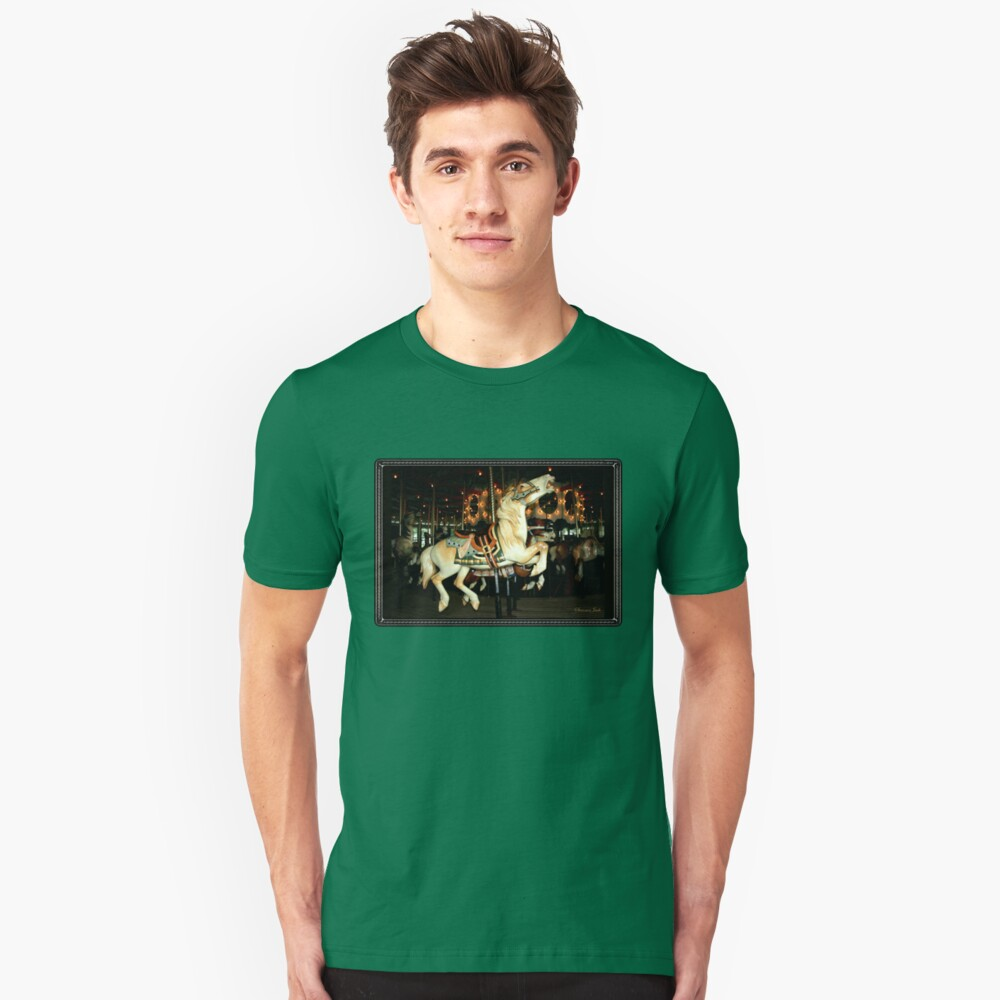 Beautiful Horse on the Carousel Slim Fit T-Shirt