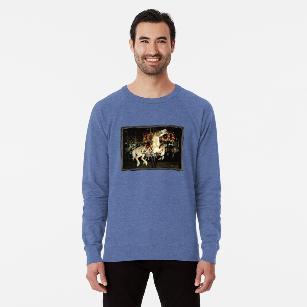 Beautiful Horse on the Carousel Lightweight Sweatshirt