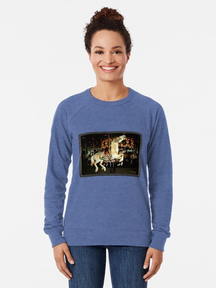 Alternate view of Beautiful Horse on the Carousel Lightweight Sweatshirt
