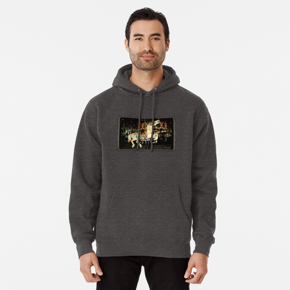 Beautiful Horse on the Carousel Pullover Hoodie