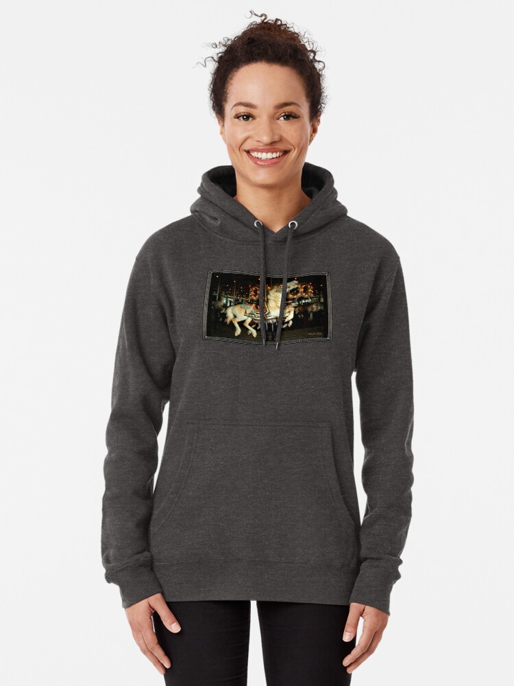 Alternate view of Beautiful Horse on the Carousel Pullover Hoodie