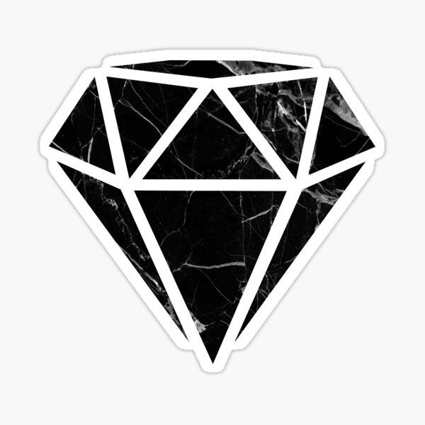 Black Marble Diamond  Sticker