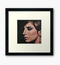 Barbra Streisand painting Framed Print