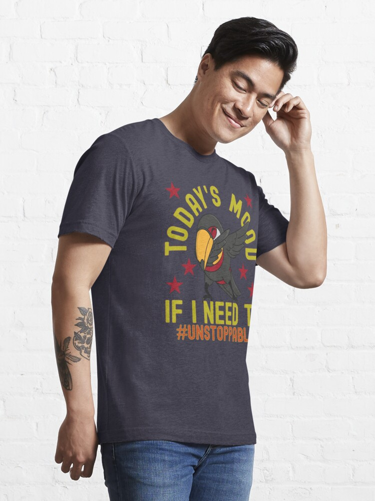 Alternate view of Today Mood Dabbing Parrot Unstoppable Hashtag Essential T-Shirt