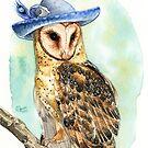 Strange Barn Owl by Goldeen Ogawa