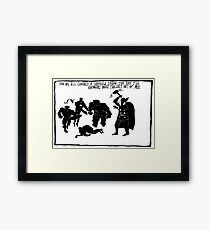 End of Act III of pilot episode... Framed Print