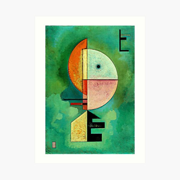 Hacia arriba, famosa pintura abstracta de Wassily Kandinsky Lámina artística
