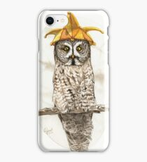 Strange Great Gray Owl iPhone Case/Skin
