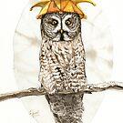Strange Great Gray Owl by Goldeen Ogawa