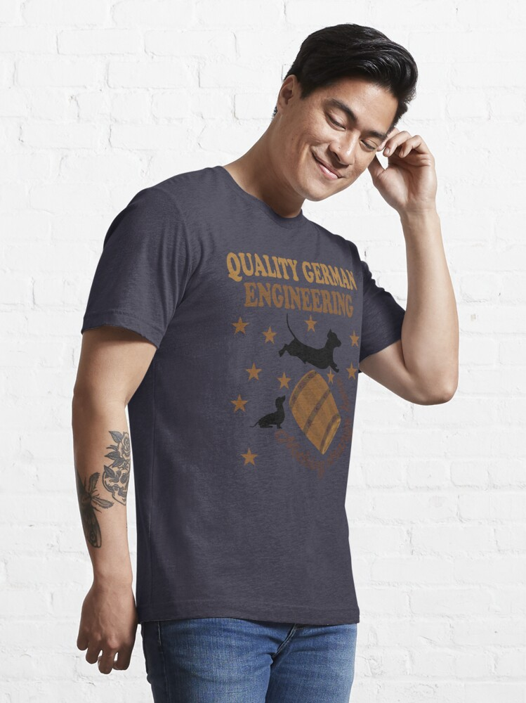Alternate view of Quality German Engineering Dachshund Dog Lover Essential T-Shirt