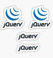 jQuery logo Sticker