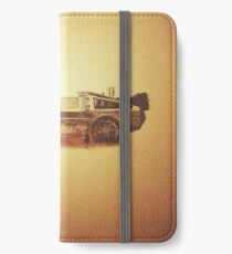 Lost in the Wild Wild West! (Golden Delorean Doubleexposure Art) iPhone Wallet/Case/Skin