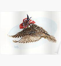 Strange Northern Hawk Owl Poster