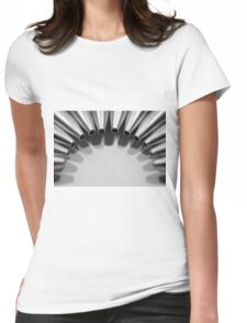 Unclicked Pen Tips Womens Fitted T-Shirt
