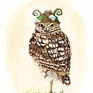 Strange Burrowing Owl by Goldeen Ogawa