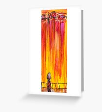 Alone in the city Greeting Card