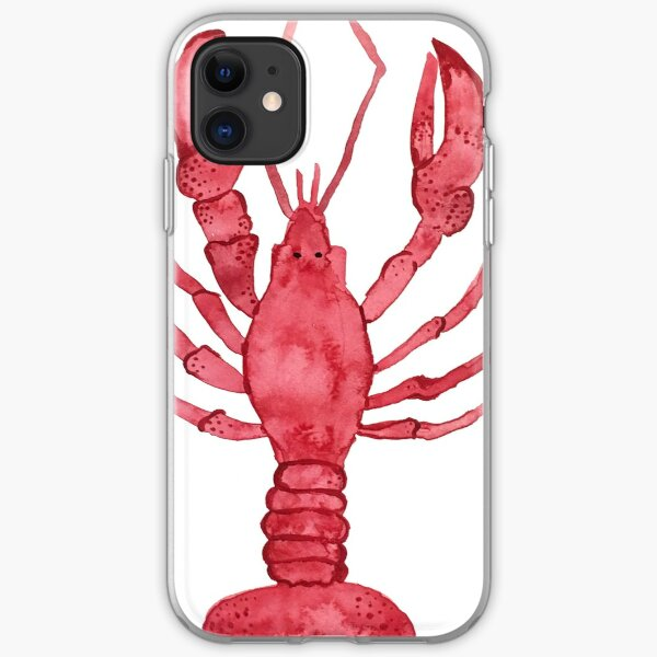 Lobster Watercolor iPhone Soft Case