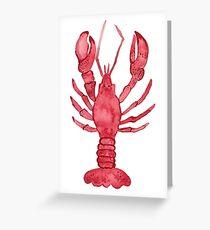 Lobster Watercolor Greeting Card