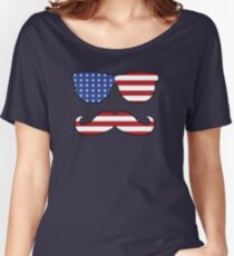 Patriotic Funny Face Women's Relaxed Fit T-Shirt