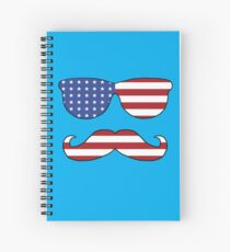 Patriotic Funny Face Spiral Notebook