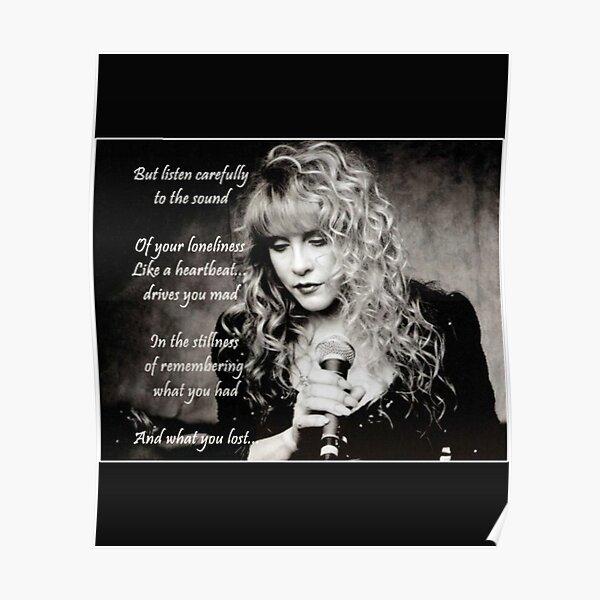 Stevie Nicks Vintage Love Music Stevie Nicks Songs Diseño fresco Póster