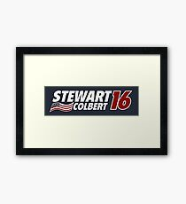 Stewart & Colbert 2016 Election Framed Print