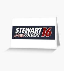 Stewart & Colbert 2016 Election Greeting Card