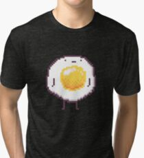 Standing Egg Pixel  Tri-blend T-Shirt